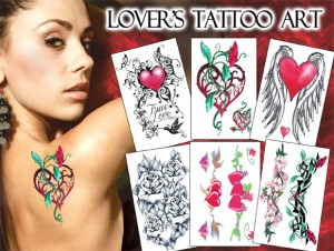 temporary tattoos lovers  tattoo art 6-13-13
